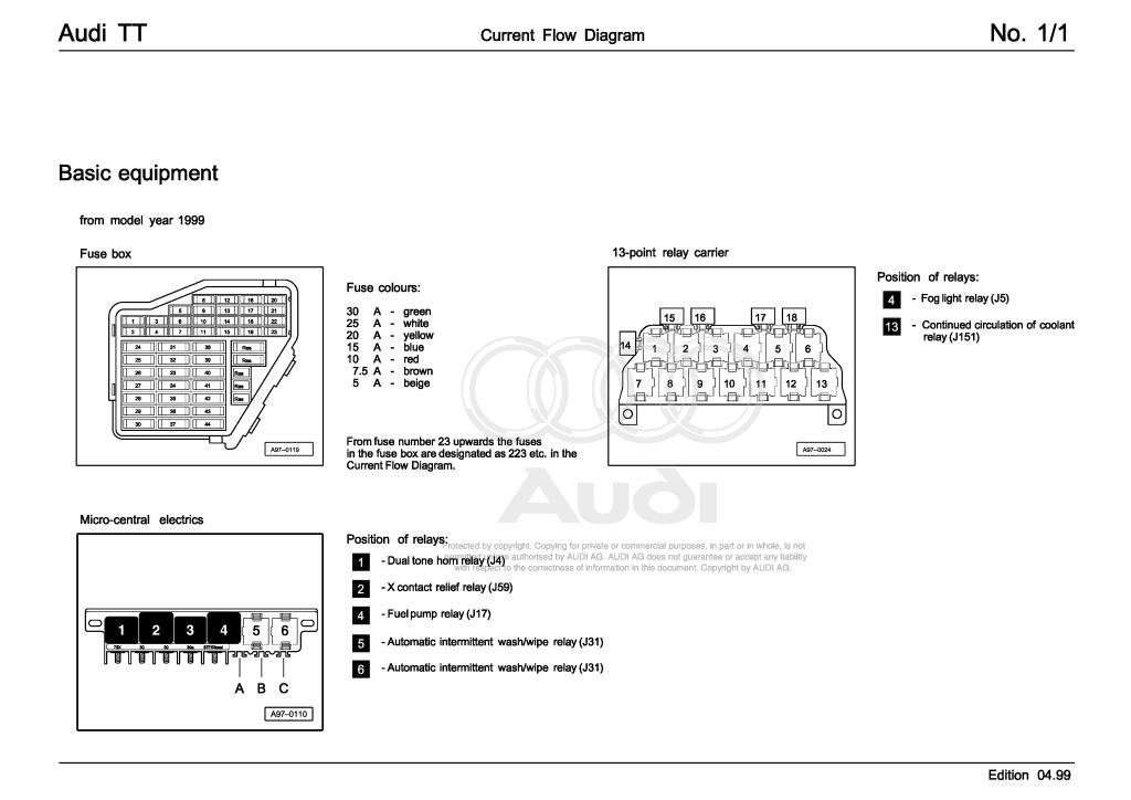 Audi Tt Wiring Diagrams Pdf  28 9 Mb