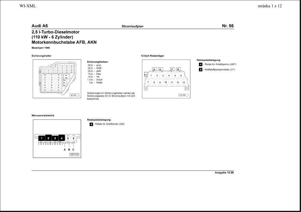 1999 A6 Wiring Diagram Pdf  1009 Kb